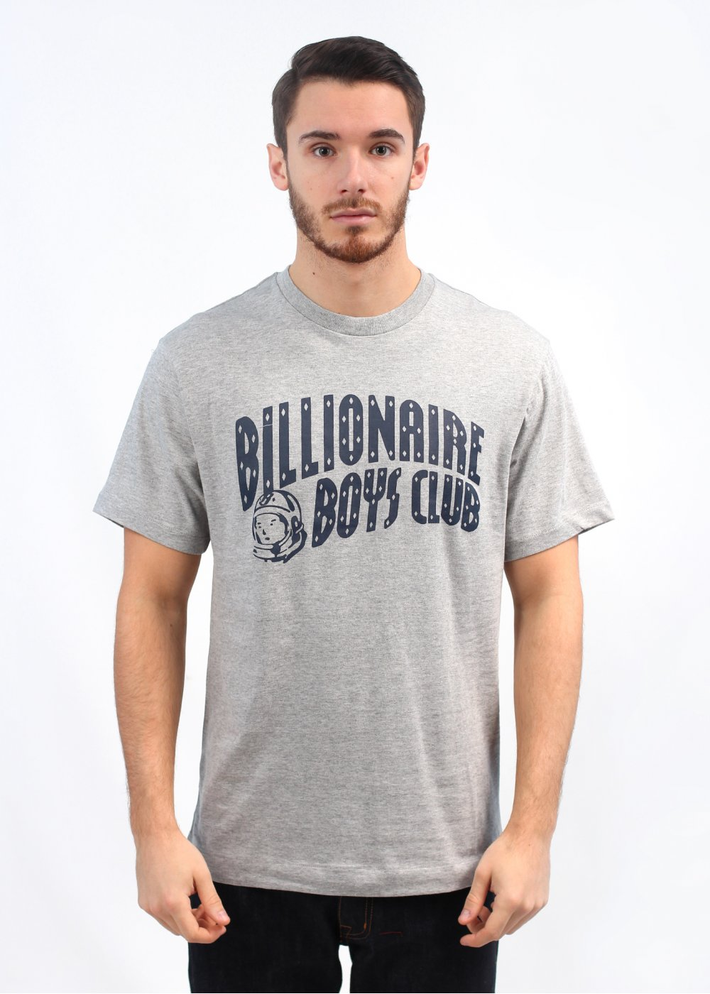 Billionaire boys club classic arch t shirt grey peacoat for T shirts for clubs