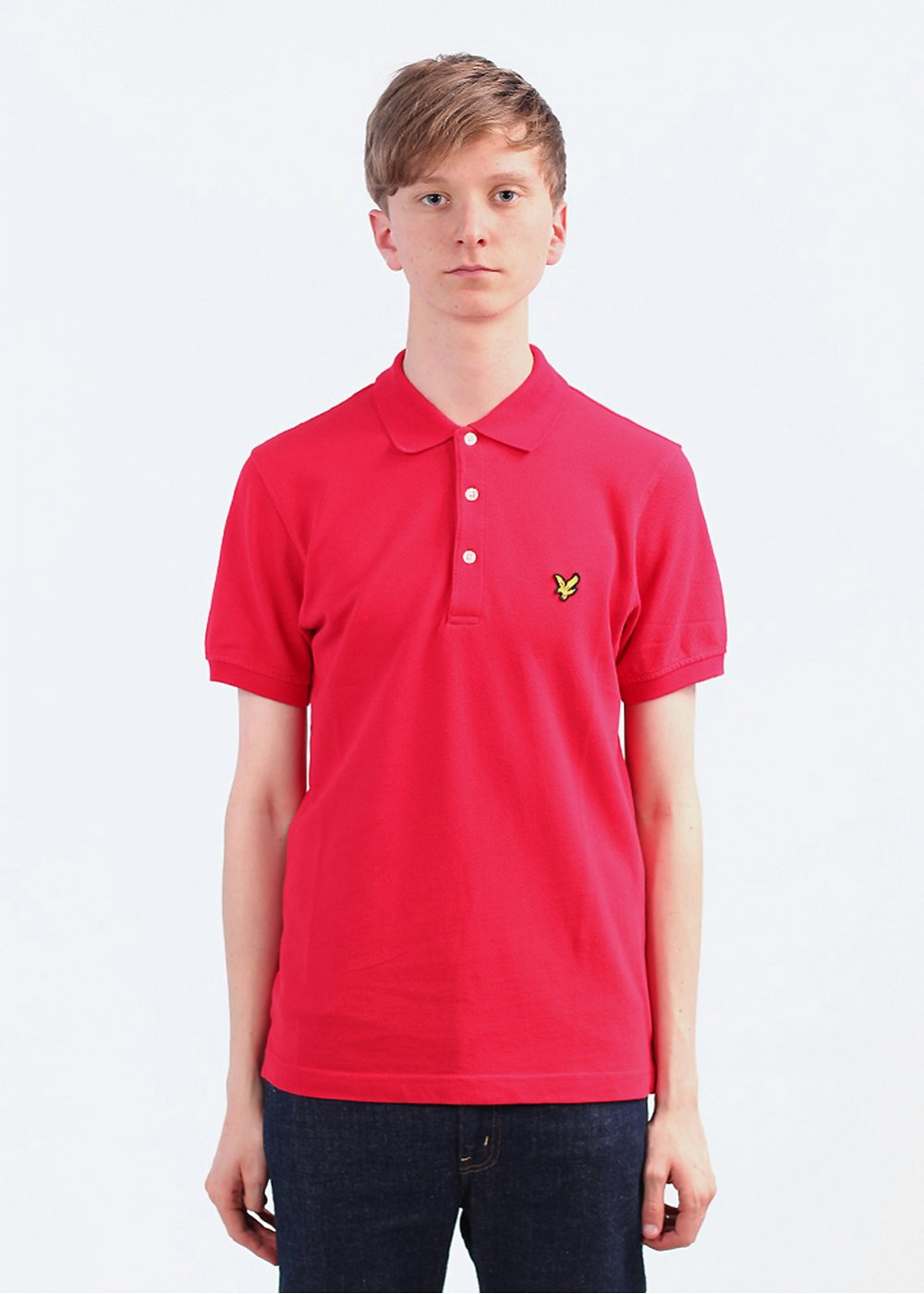 lyle scott pique polo shirt royal red. Black Bedroom Furniture Sets. Home Design Ideas