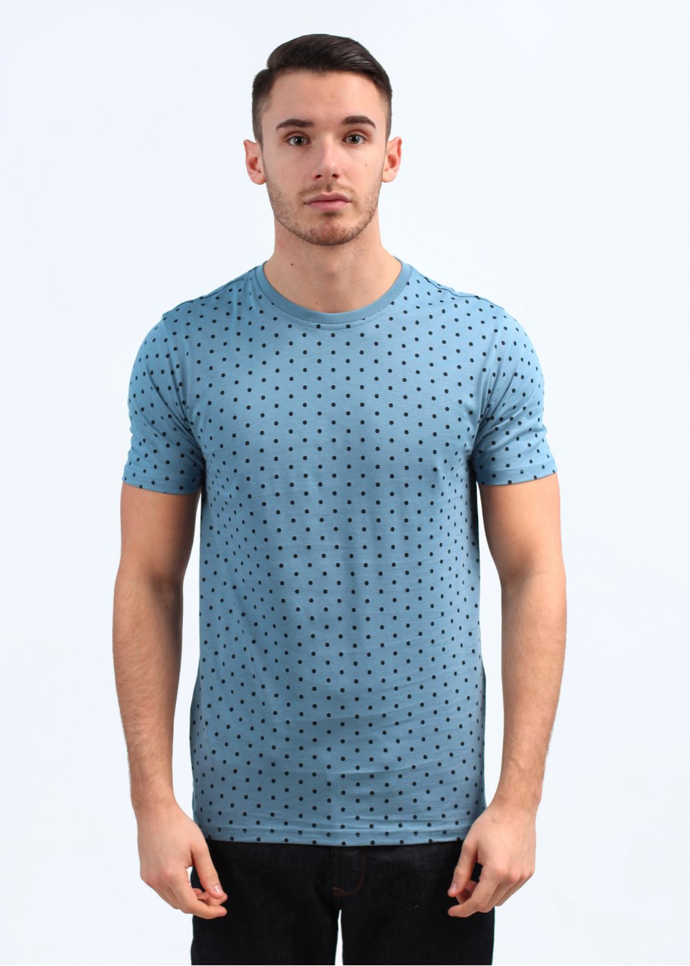 Paul smith jeans skinny polka dot t shirt light blue Light blue t shirt mens