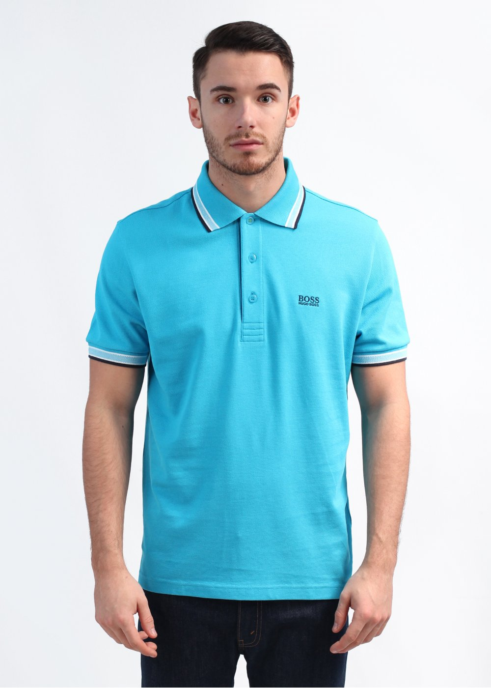 hugo boss green paddy polo shirt turquoise aqua. Black Bedroom Furniture Sets. Home Design Ideas