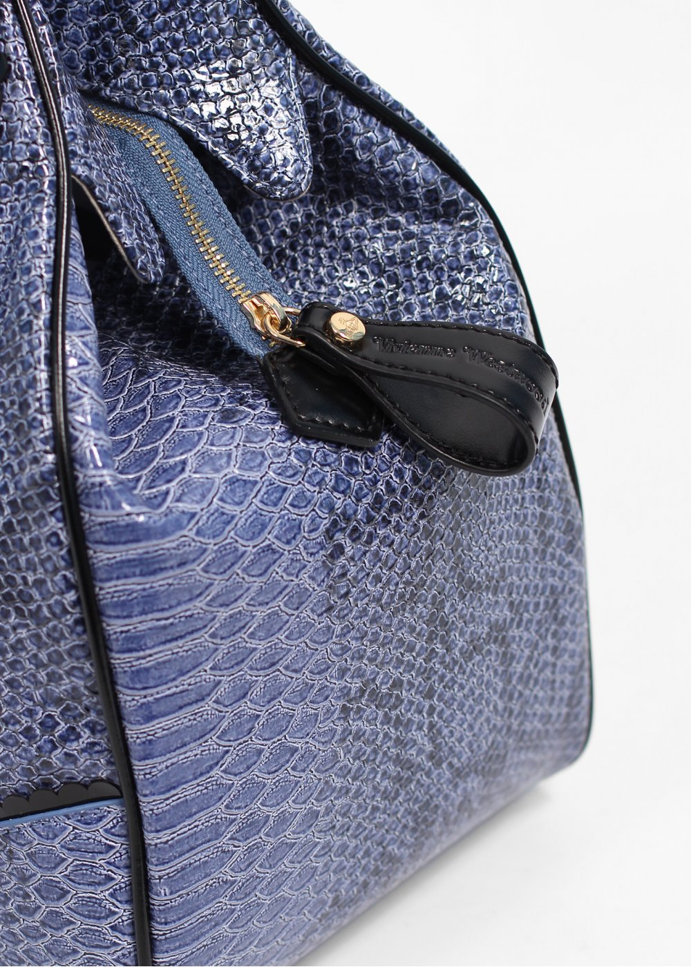 Vivienne Westwood Accessories Frilly Snake Bag Blue, AW13.