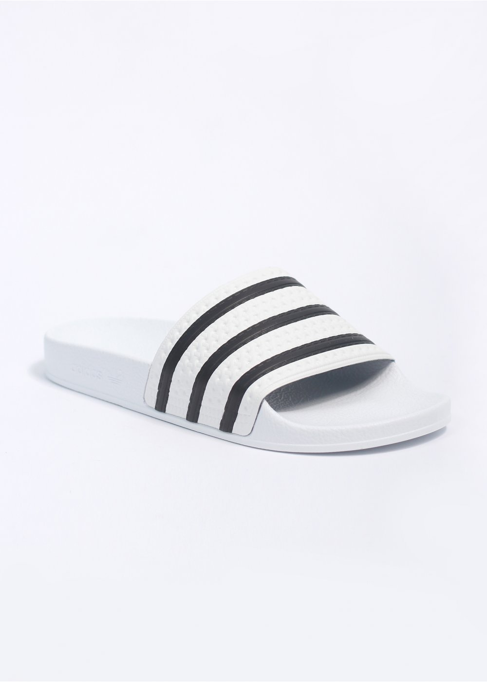Adidas Originals Adilette Flip Flop Sandals White Black