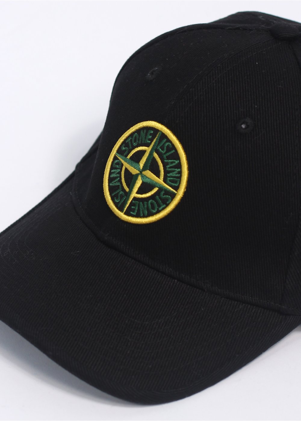 stone island logo cap black. Black Bedroom Furniture Sets. Home Design Ideas