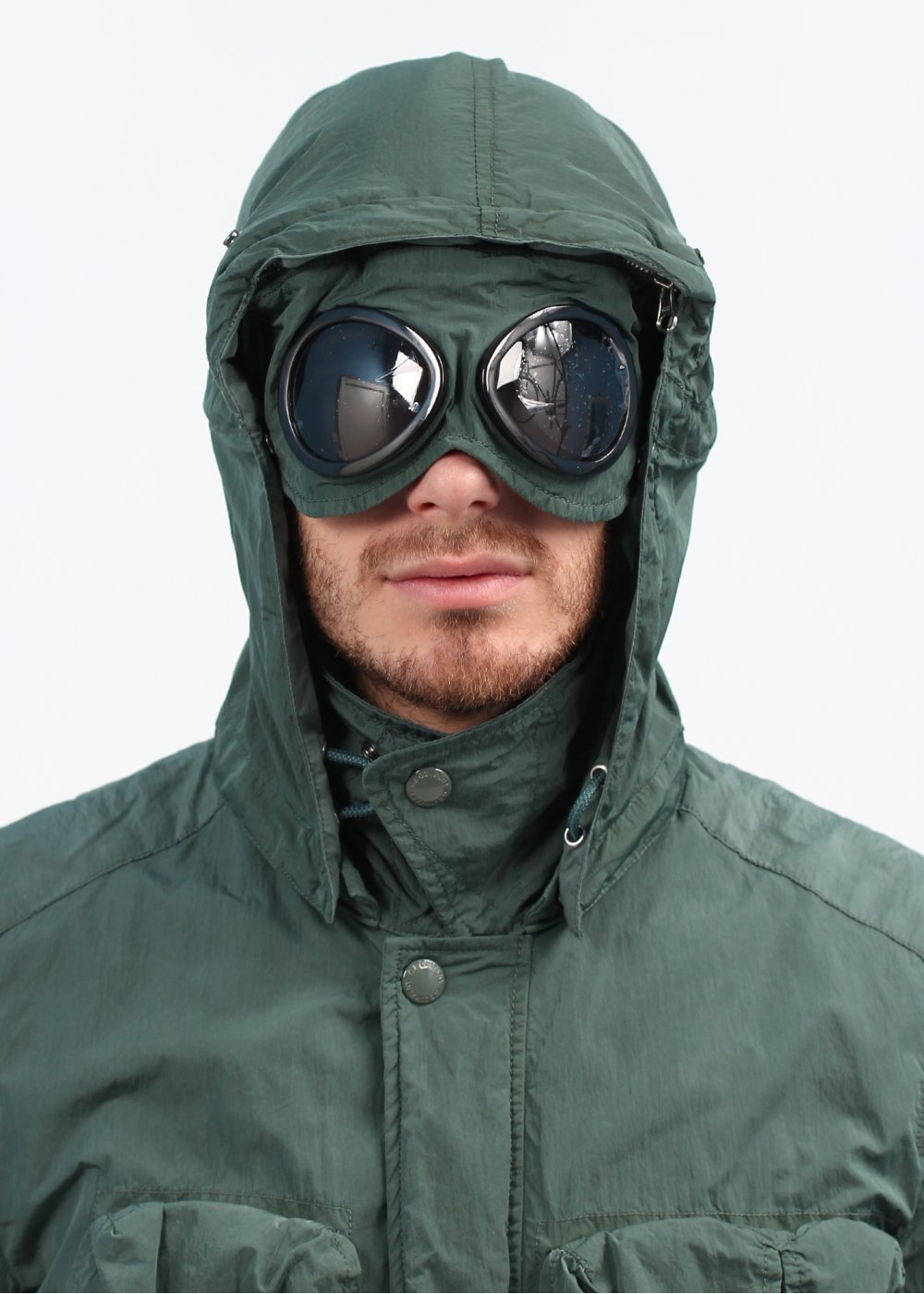 Cp Company Lightweight Goggle Jacket Sage Green