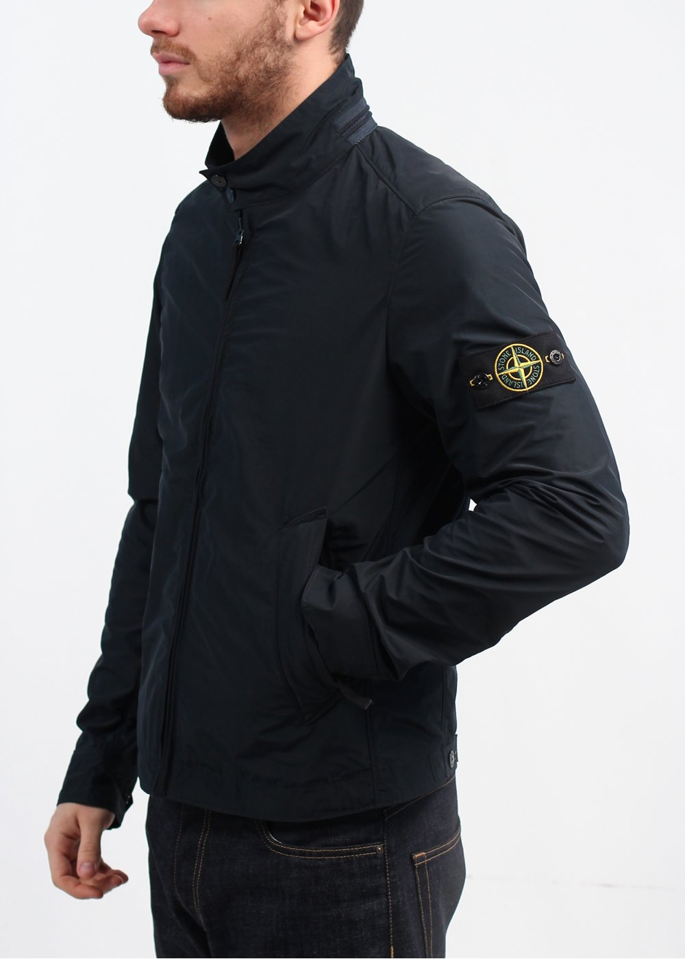 stone island zip jacket navy. Black Bedroom Furniture Sets. Home Design Ideas
