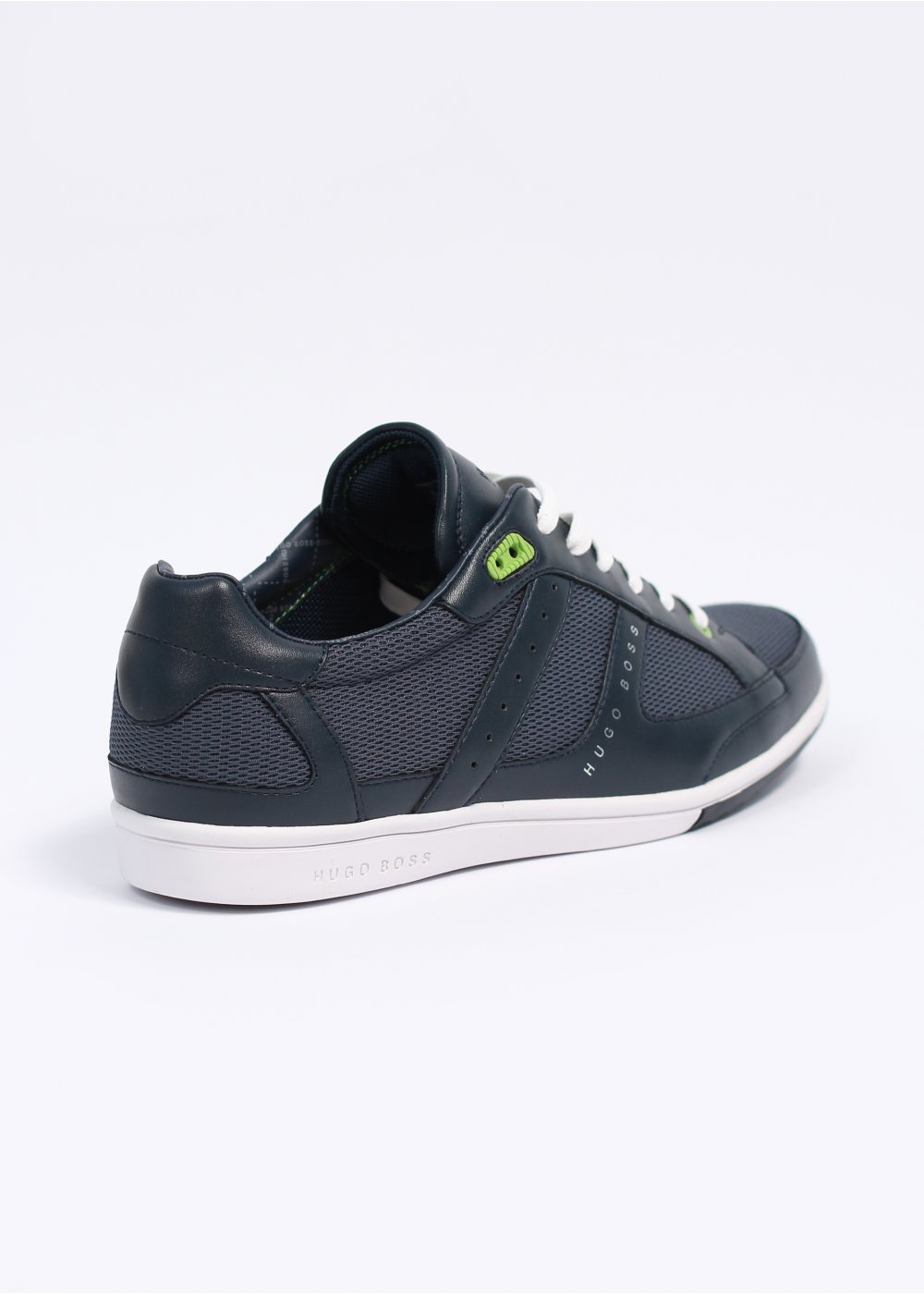 hugo boss green o 39 shea trainers navy. Black Bedroom Furniture Sets. Home Design Ideas