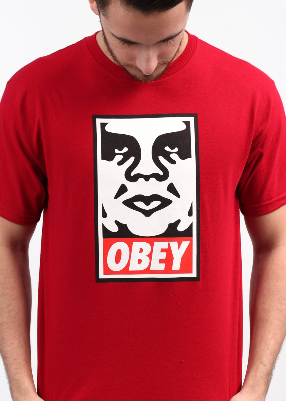 obey icon face basic t shirt red. Black Bedroom Furniture Sets. Home Design Ideas