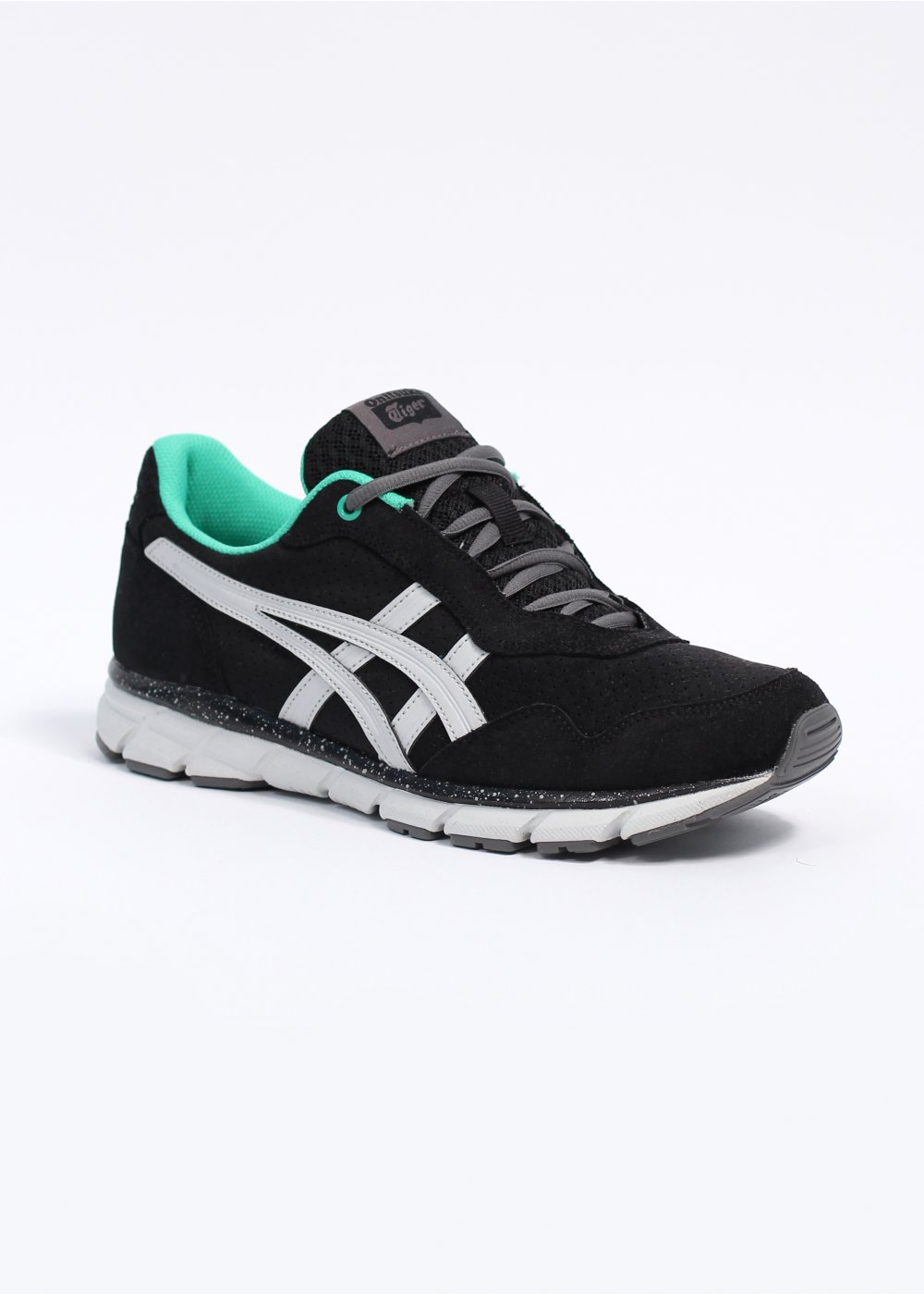 asics onitsuka tiger harandia trainers black grey. Black Bedroom Furniture Sets. Home Design Ideas