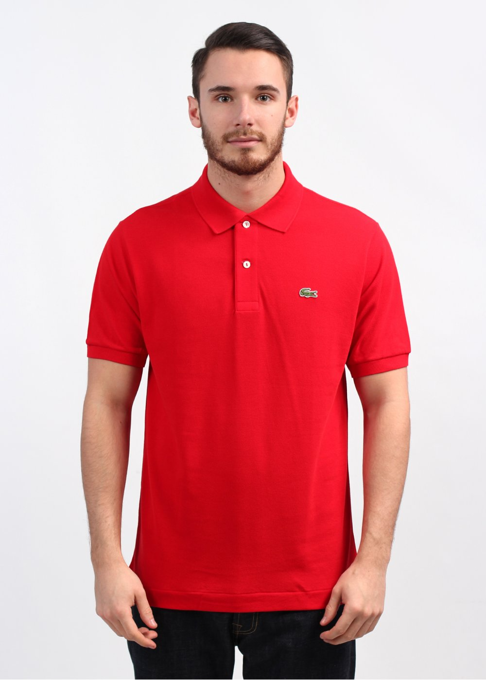 Lacoste best polo shirt bright red for Best polo shirt for men