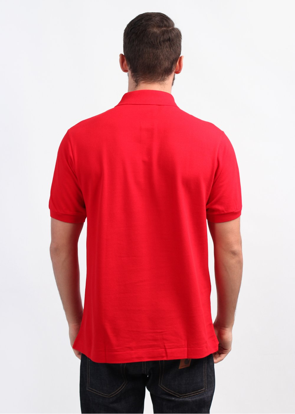Lacoste best polo shirt bright red for Lacoste poloshirt weiay