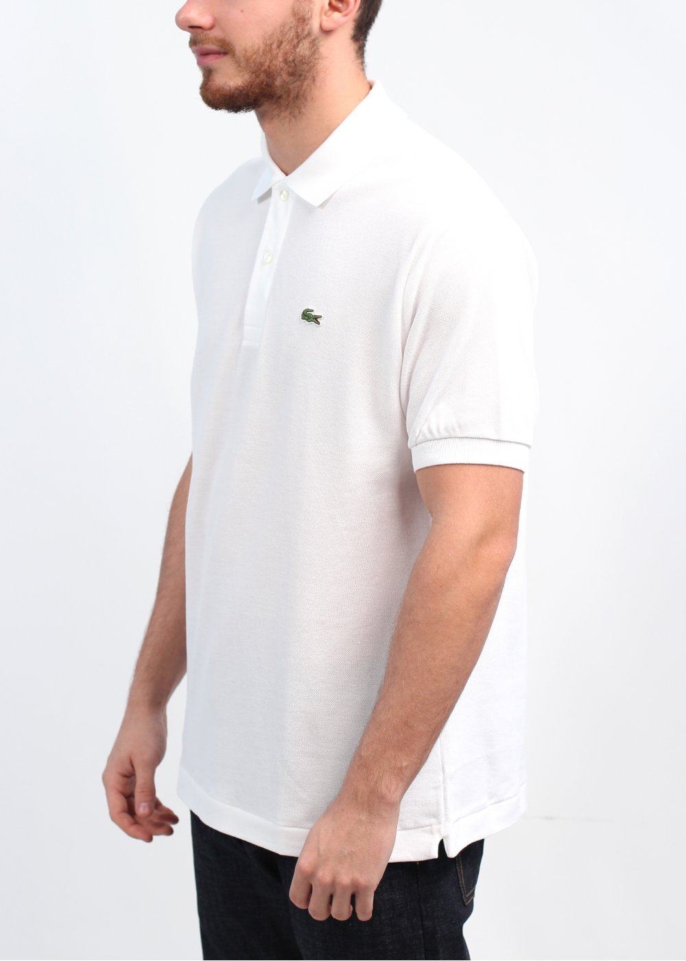 lacoste polo shirt white lacoste ph8269 tipped collar. Black Bedroom Furniture Sets. Home Design Ideas