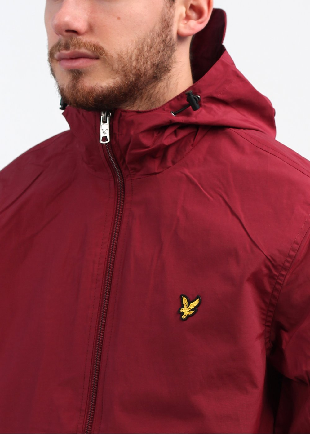 lyle scott vintage zip hooded jacket berry. Black Bedroom Furniture Sets. Home Design Ideas