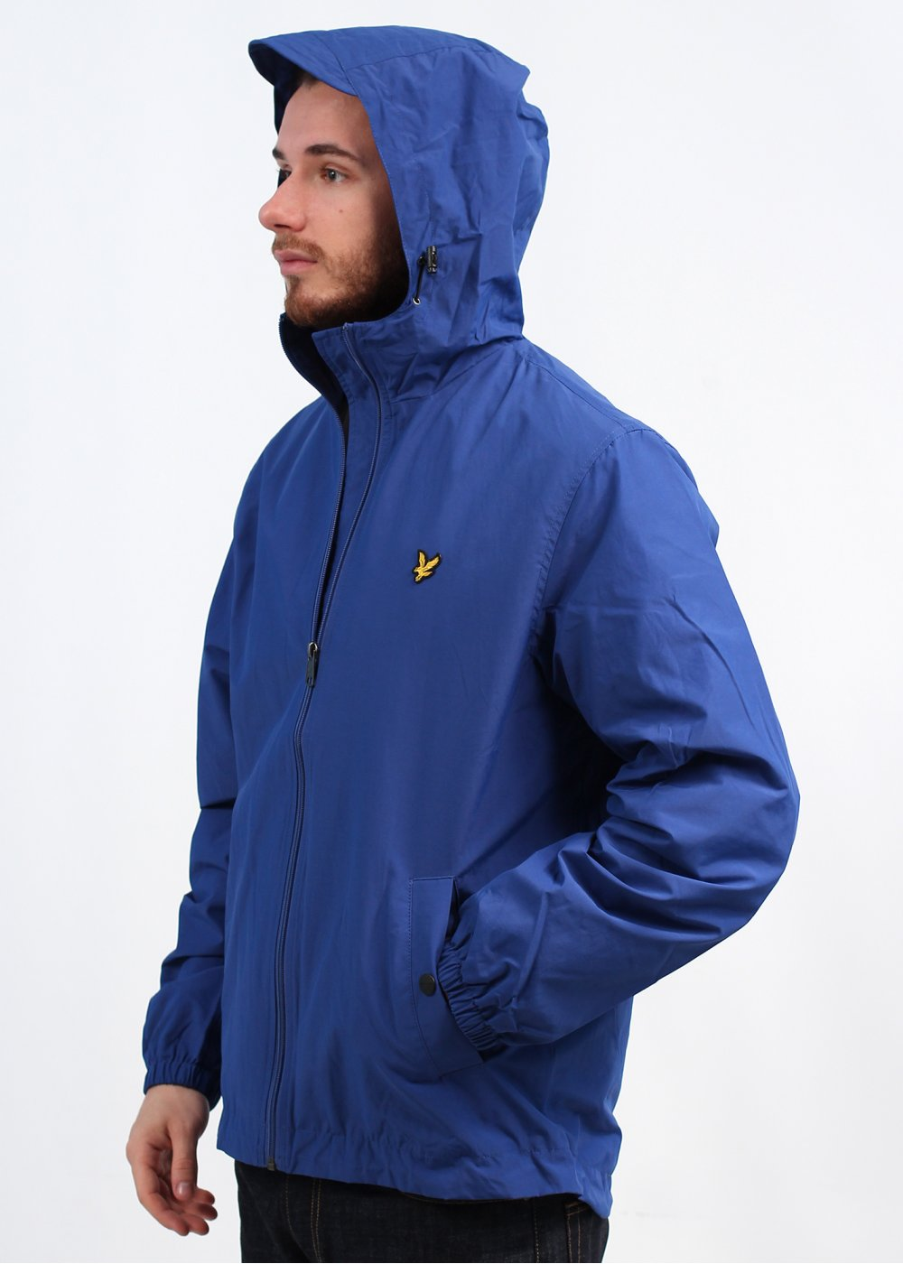 lyle scott vintage zip hooded jacket shallow end blue. Black Bedroom Furniture Sets. Home Design Ideas
