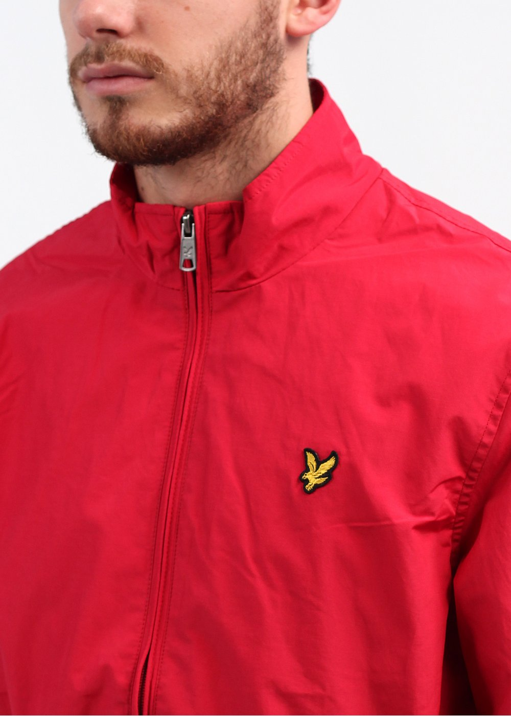 lyle scott vintage funnel neck zip jacket royal red. Black Bedroom Furniture Sets. Home Design Ideas