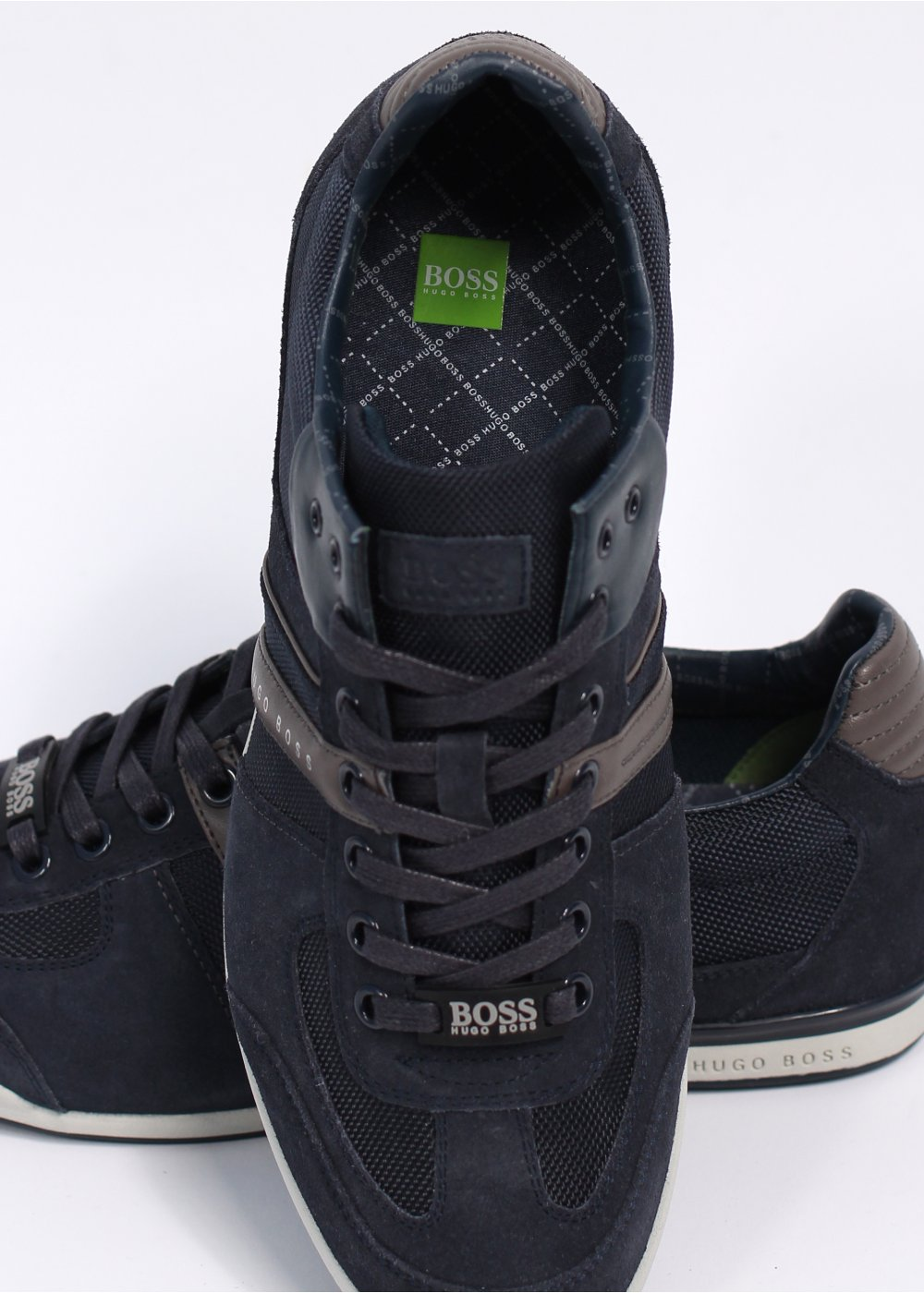 hugo boss green akeen trainers open blue. Black Bedroom Furniture Sets. Home Design Ideas