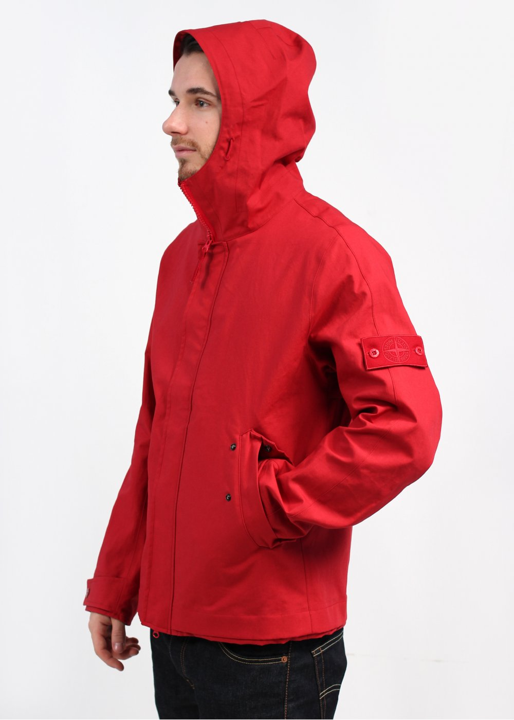 Stone Island 3l Cotton Ghost Jacket Red