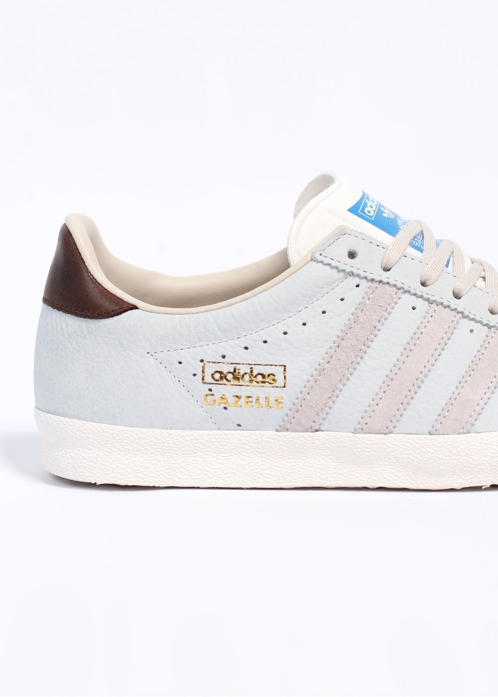 Neo White Navy Red Adidas: Adidas Originals Gazelle OG Punched Leather Trainers