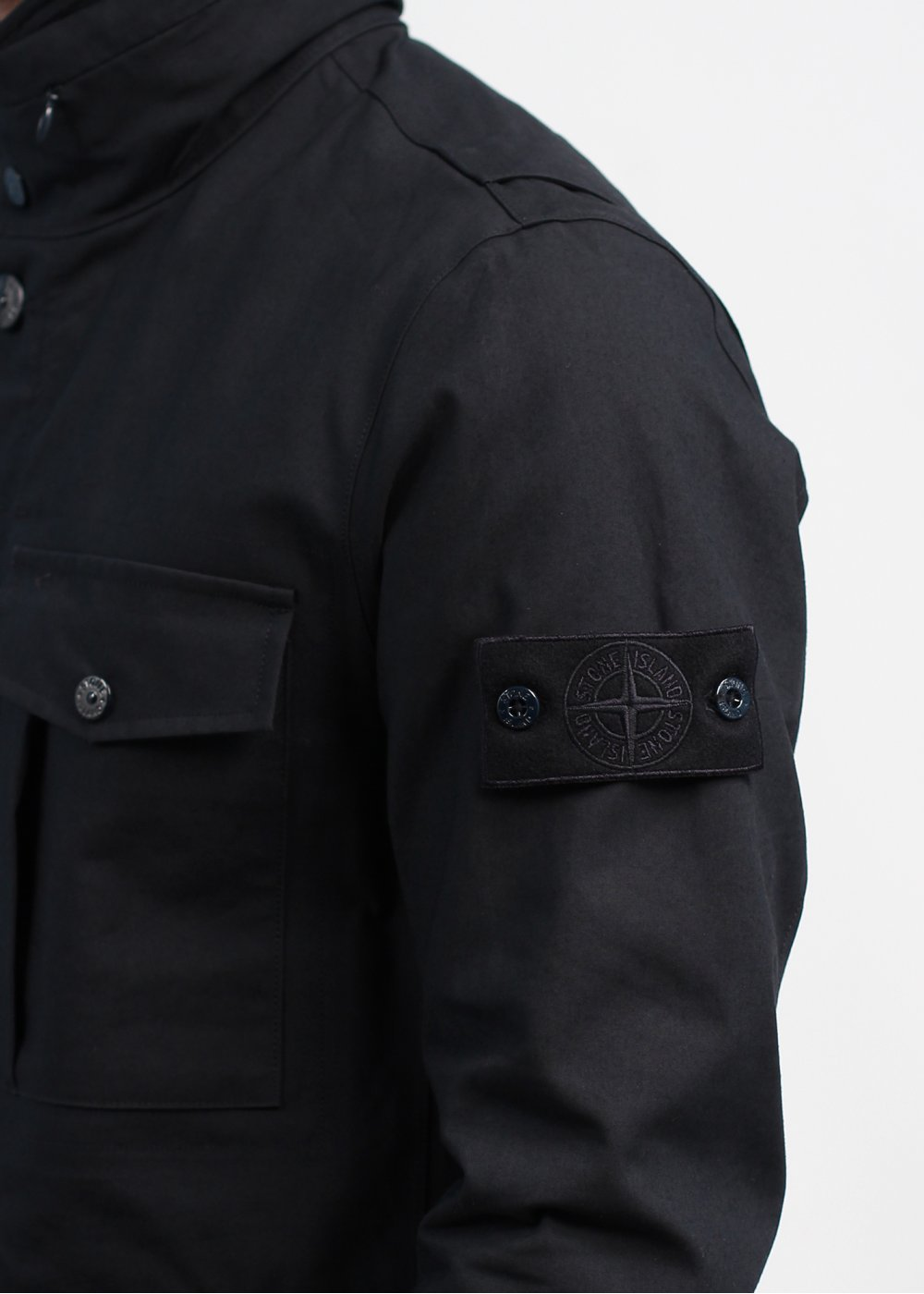 Stone Island 3l Performance Cotton Ghost Jacket Navy Blue