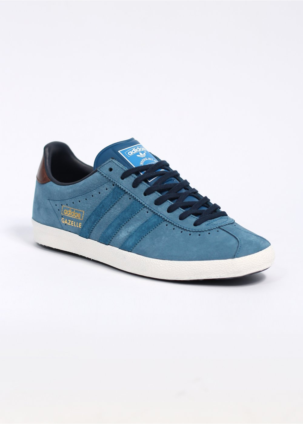 leather gazelle trainers