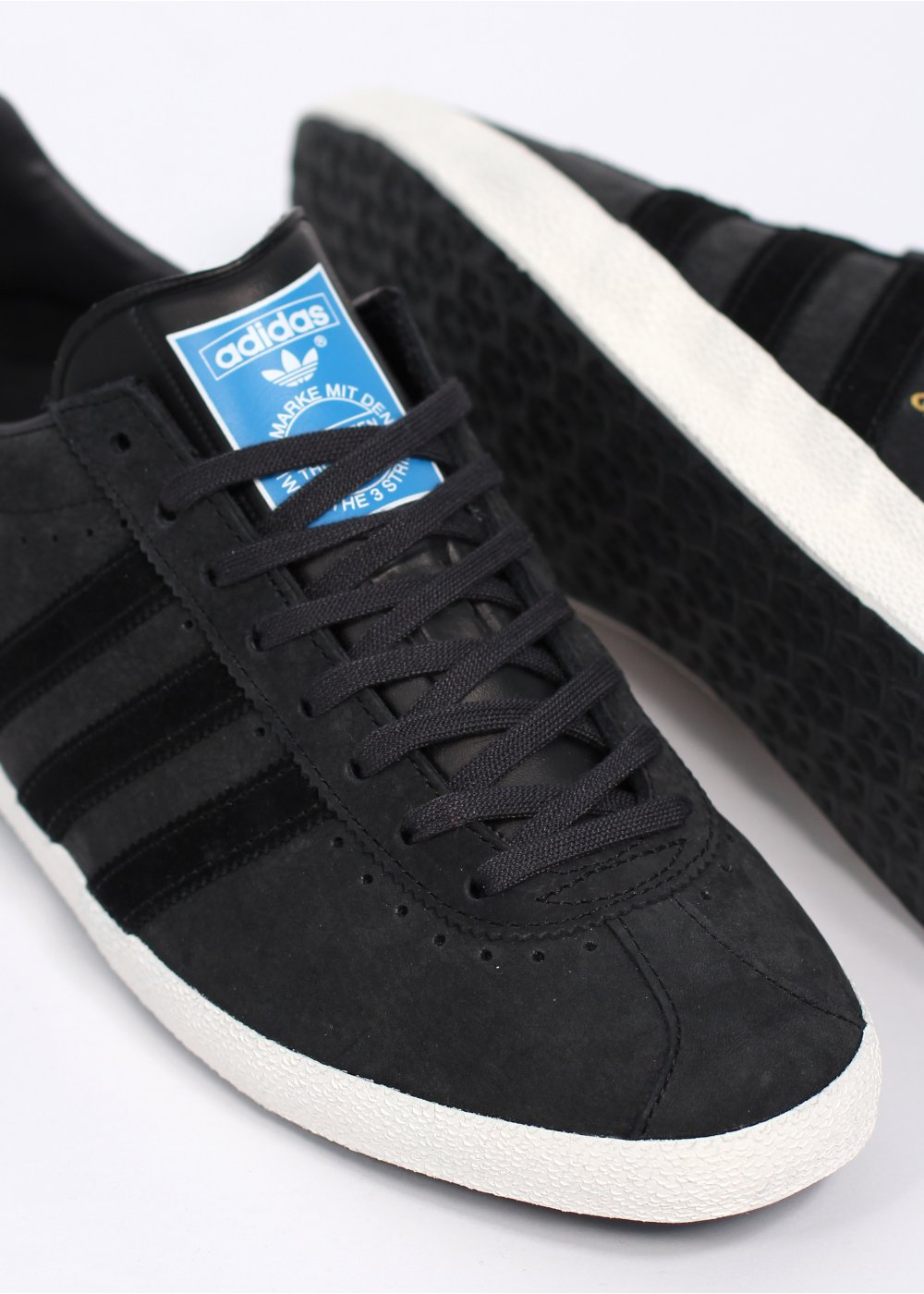Adidas Originals Originals Top Ten Low Sneaker In Black: Adidas Originals Gazelle OG Punched Leather Trainers