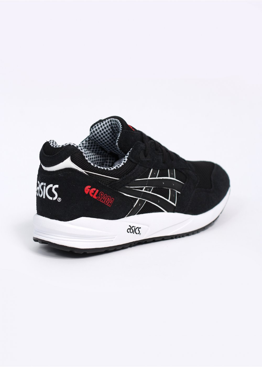 asics gel saga trainers black