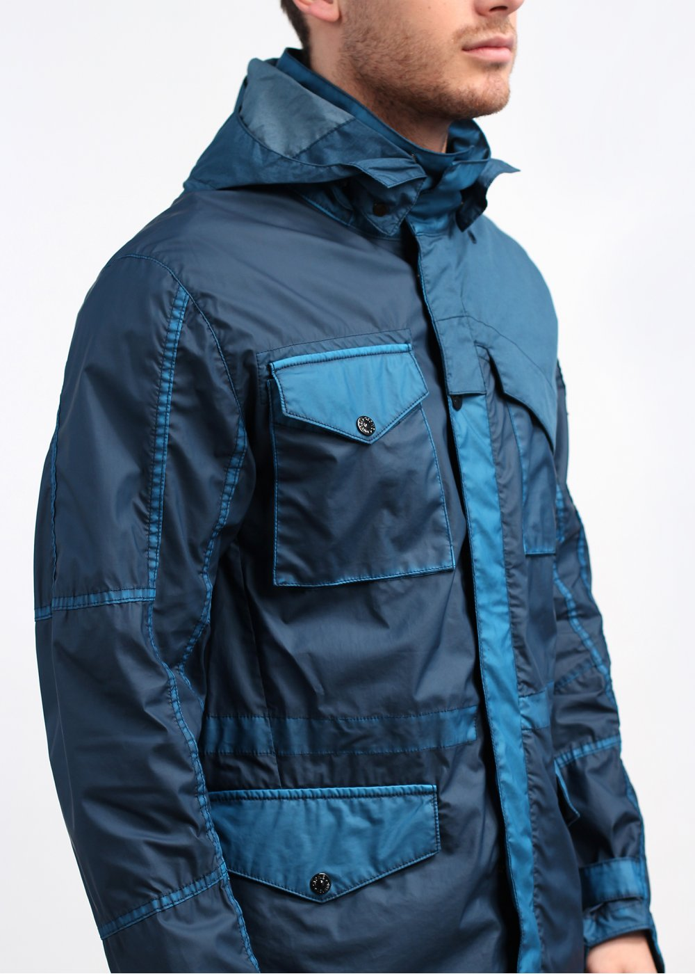 stone island shadow project mussola gommata field jacket cobalt blue. Black Bedroom Furniture Sets. Home Design Ideas