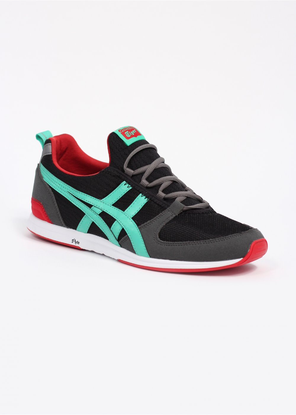 asics onitsuka tiger ult racer trainers black mint. Black Bedroom Furniture Sets. Home Design Ideas