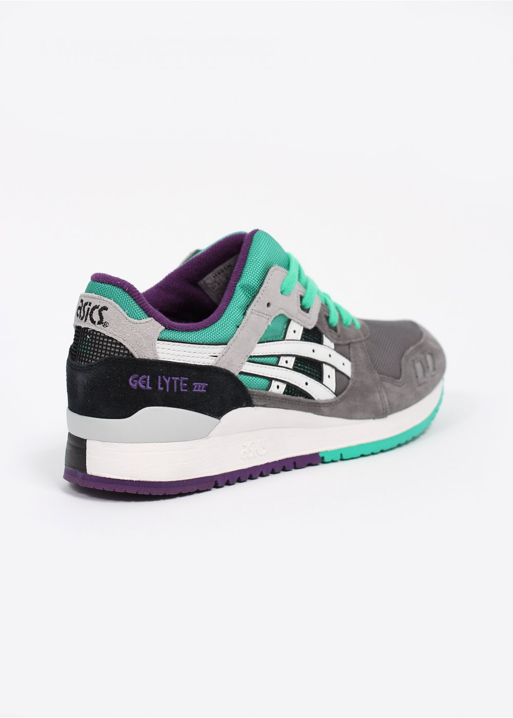 asics gel lyte iii 39 grape 39 trainers grey white. Black Bedroom Furniture Sets. Home Design Ideas