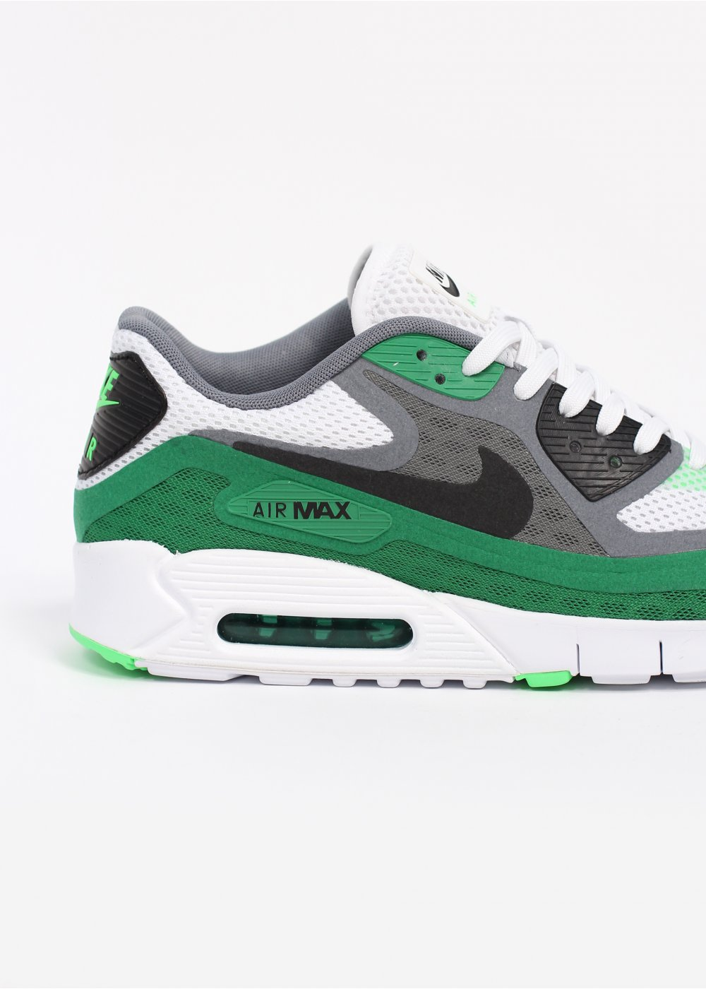 nike air max 90 breathe trainers white green. Black Bedroom Furniture Sets. Home Design Ideas