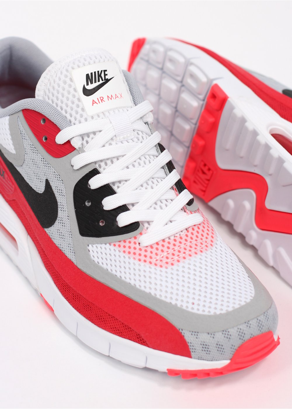 nike air max 90 breeze trainers white red air max. Black Bedroom Furniture Sets. Home Design Ideas
