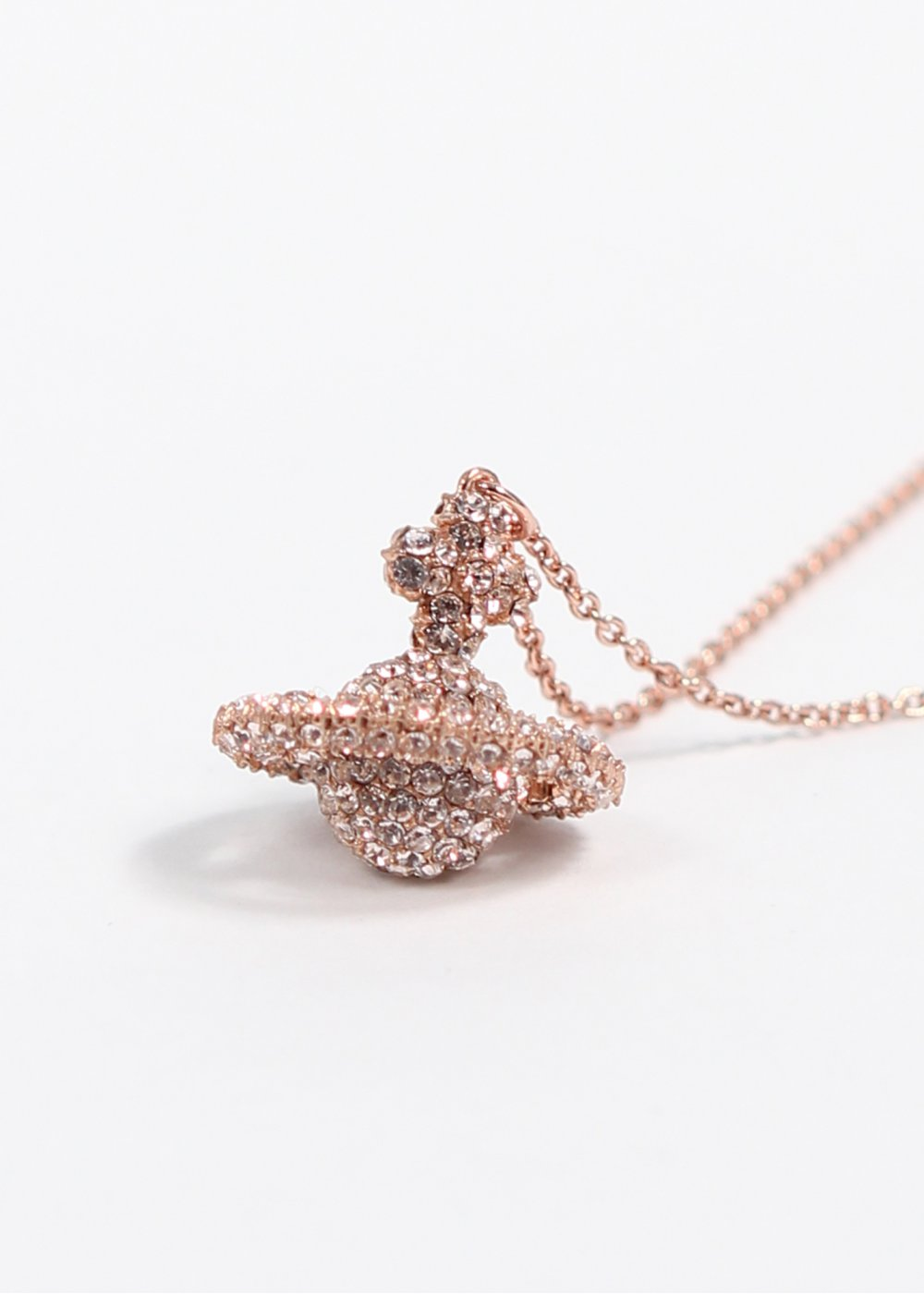 Vivienne Westwood Grace Small Pendant Pink Gold Ss14