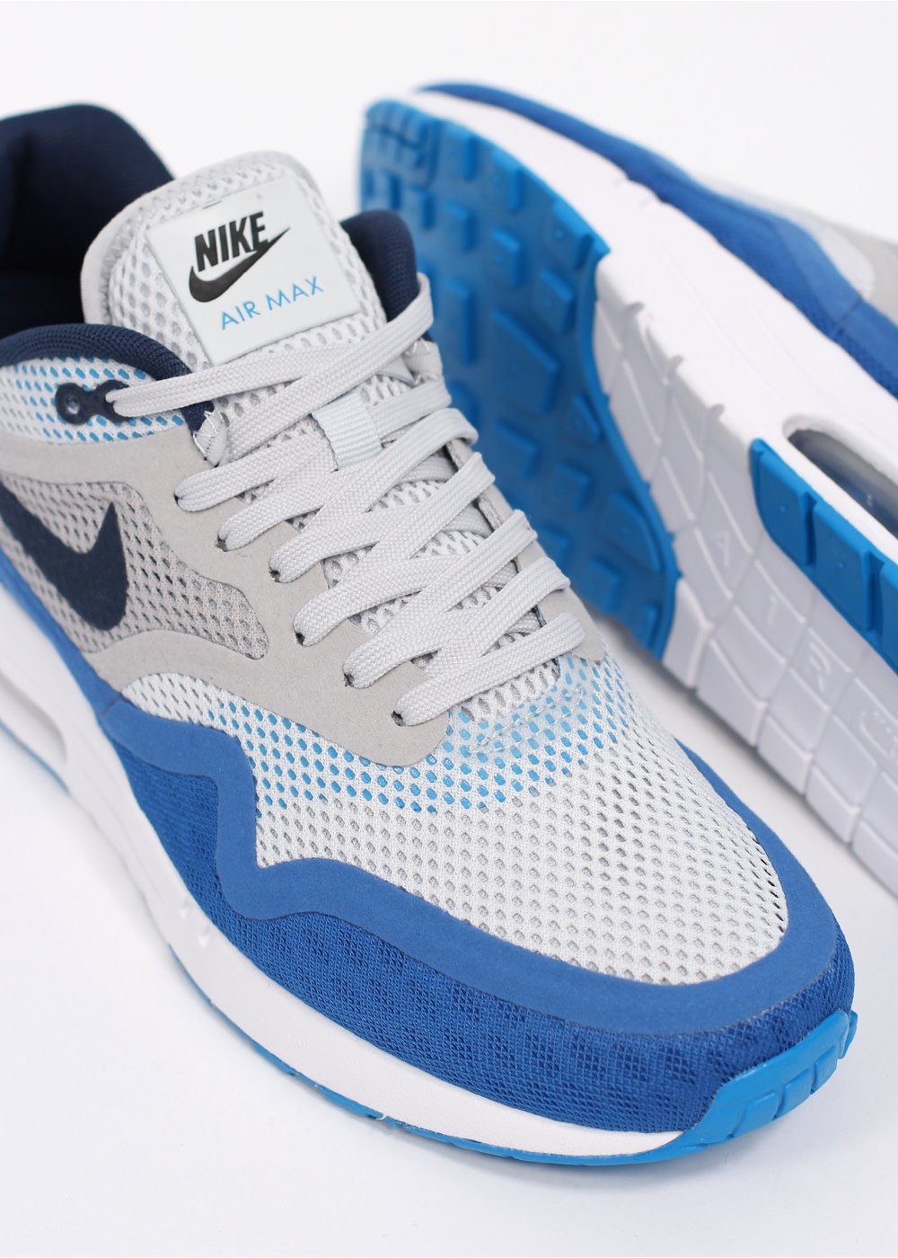 nike air max 1 breathe trainers white blue. Black Bedroom Furniture Sets. Home Design Ideas