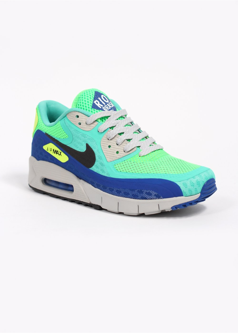 Nike Quickstrike Air Max 90 Breathe City Series \u0026#39;Rio\u0026#39; QS Trainers - Crystal Mint / Black / Hyper Cobalt