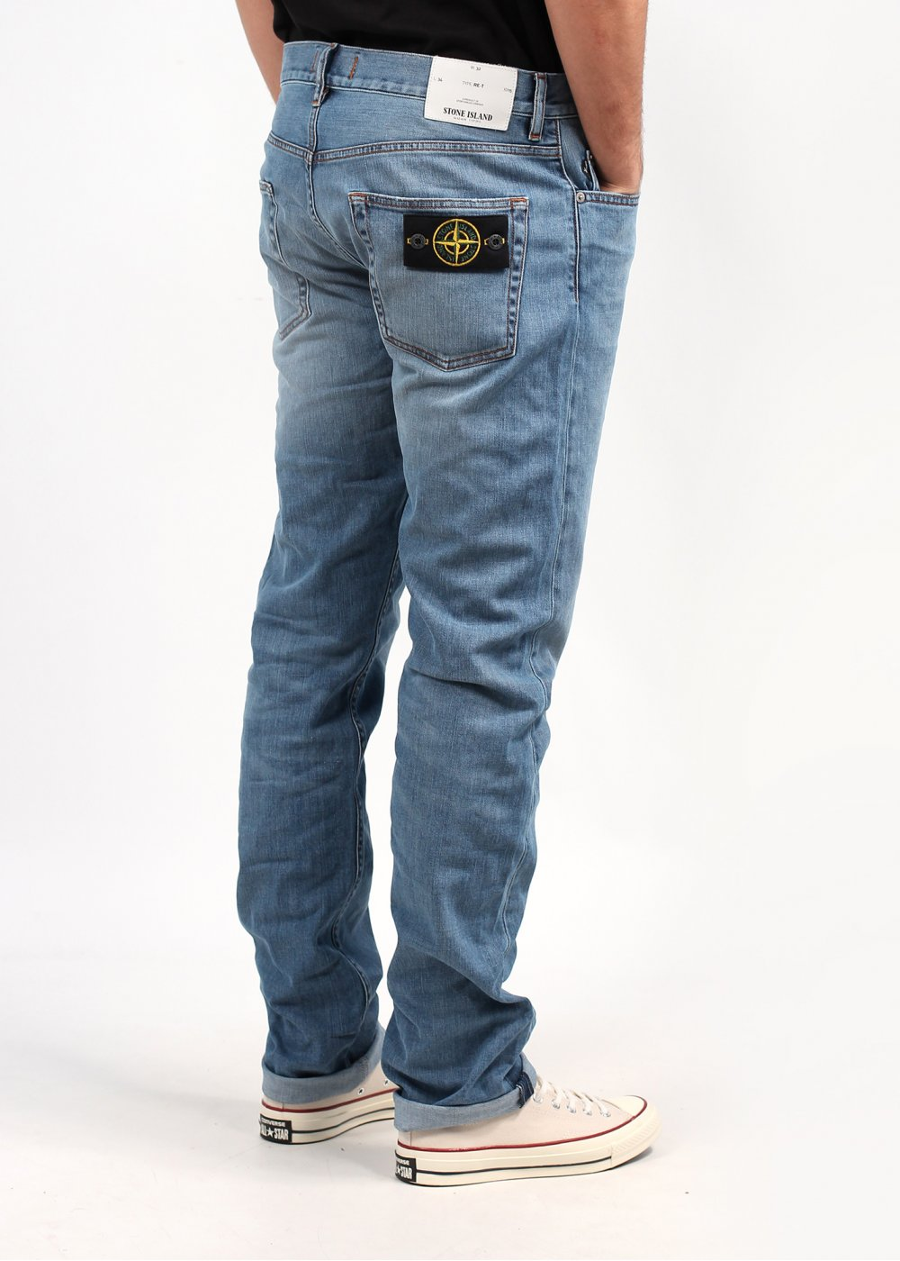 stone island tapered jeans light blue triads mens from. Black Bedroom Furniture Sets. Home Design Ideas