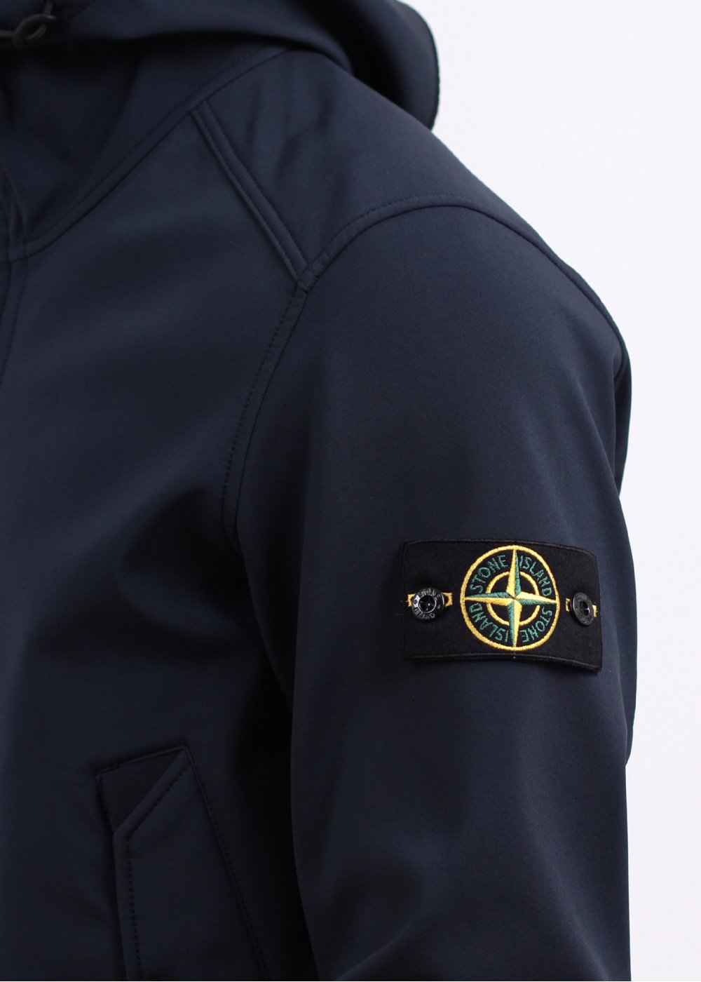 Stone Island Hooded Jacket Navy