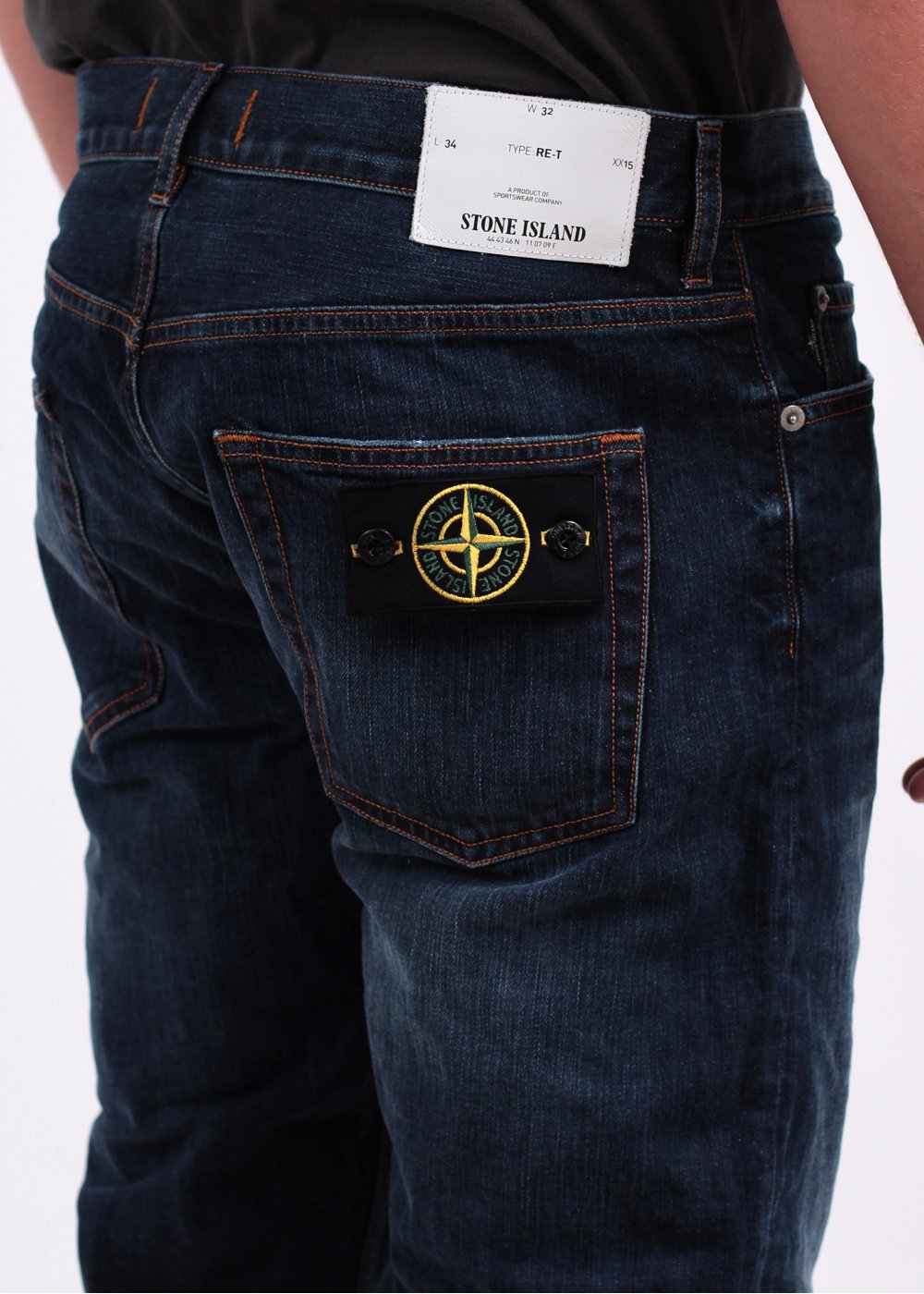 Stone Island Regular Tapered Jeans Blue