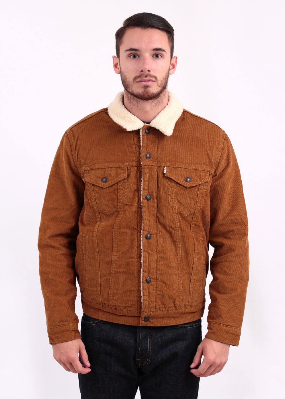 Levi S Red Tab Type 3 Sherpa Cord Bronze