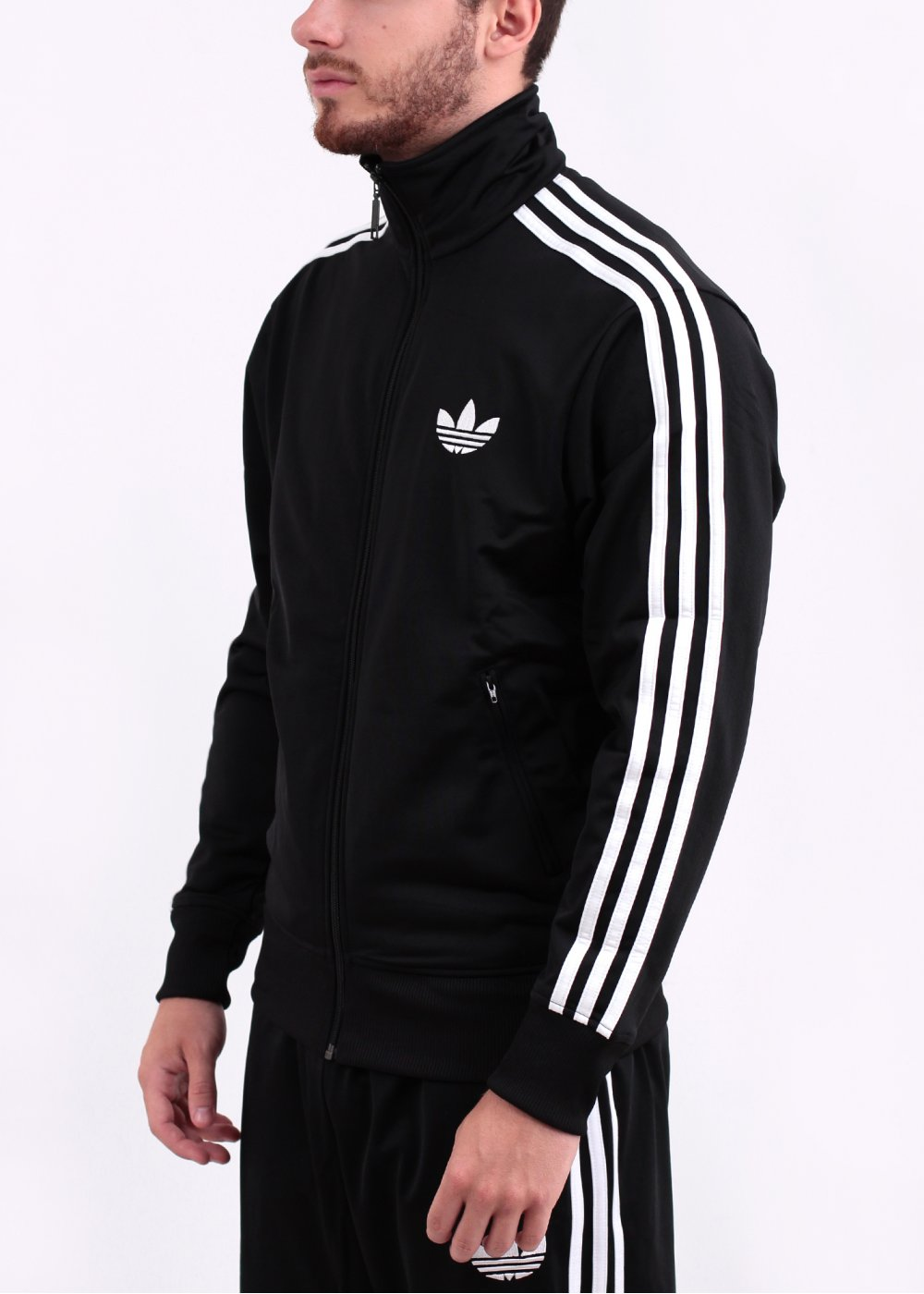 adidas originals adi firebird track top black white. Black Bedroom Furniture Sets. Home Design Ideas