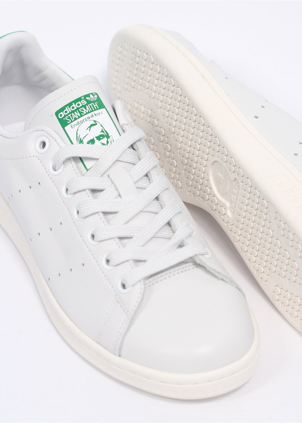 Adidas Stan Smith Trainers In White And Green