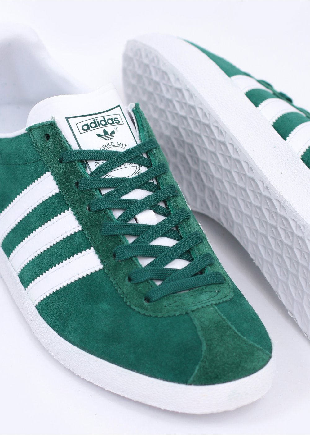 adidas gazelle green white