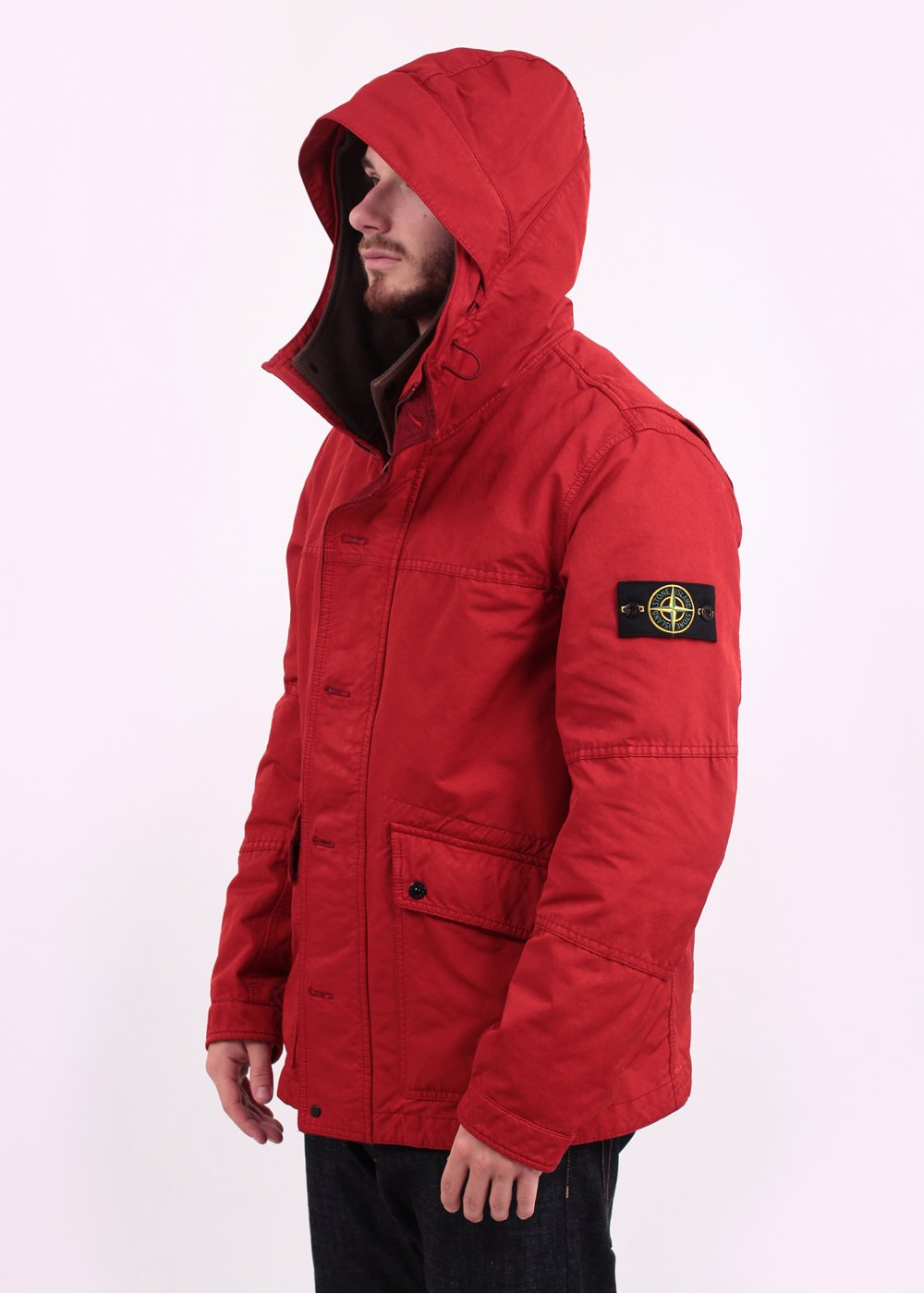 Stone Island David Tc Jacket Red