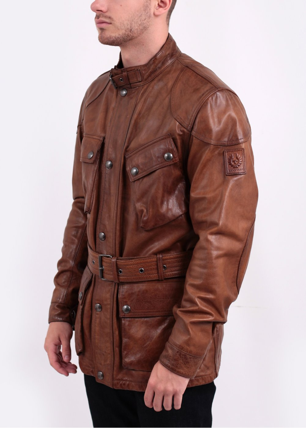 Belstaff The Panther Hand Waxed Leather Jacket Cognac