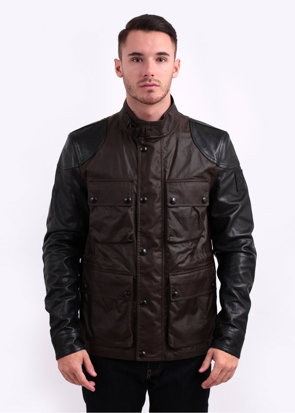 Belstaff Rothbury 6oz Waxed Cotton With Leather Jacket