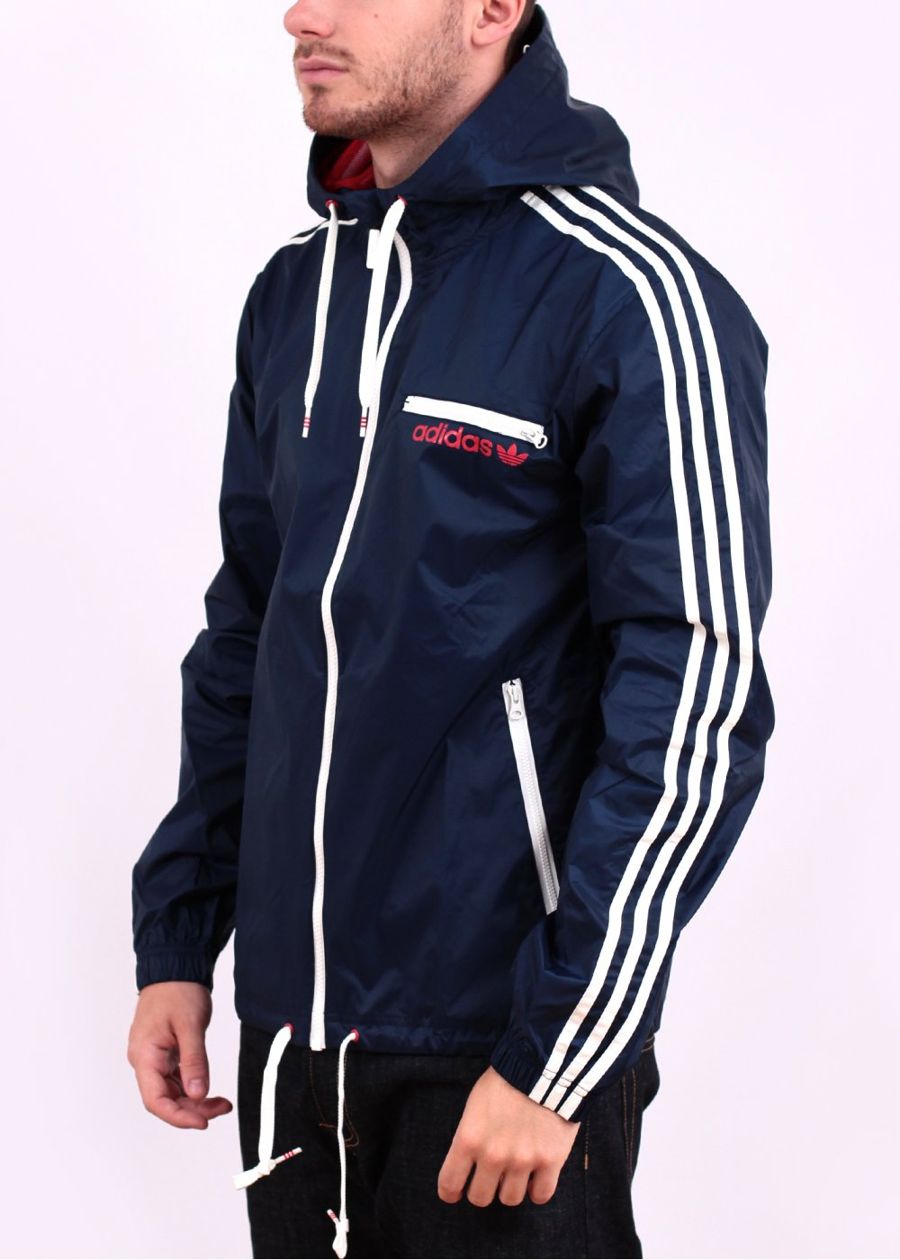 adidas originals rainproof jacket navy. Black Bedroom Furniture Sets. Home Design Ideas