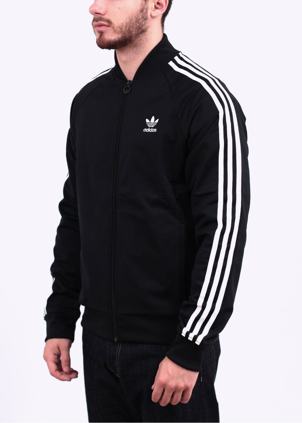 adidas originals superstar track top black. Black Bedroom Furniture Sets. Home Design Ideas