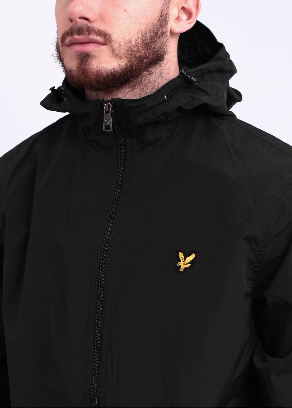 lyle scott zip hooded jacket true black. Black Bedroom Furniture Sets. Home Design Ideas