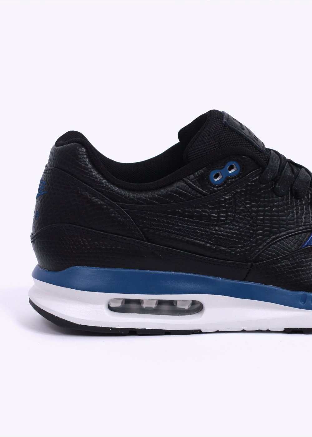 nike air max lunar 1 deluxe trainers black gym blue. Black Bedroom Furniture Sets. Home Design Ideas