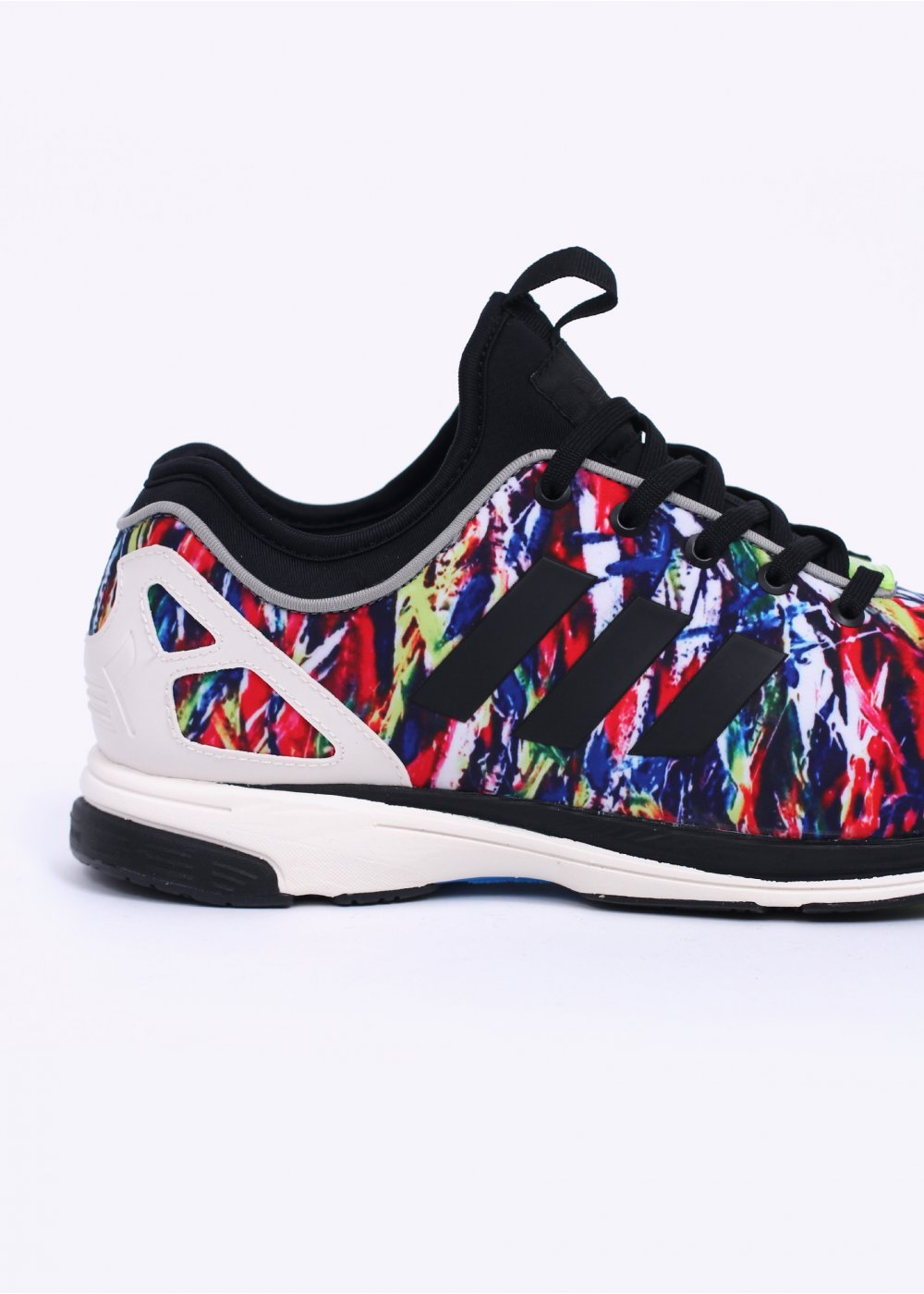 colourful adidas trainers black