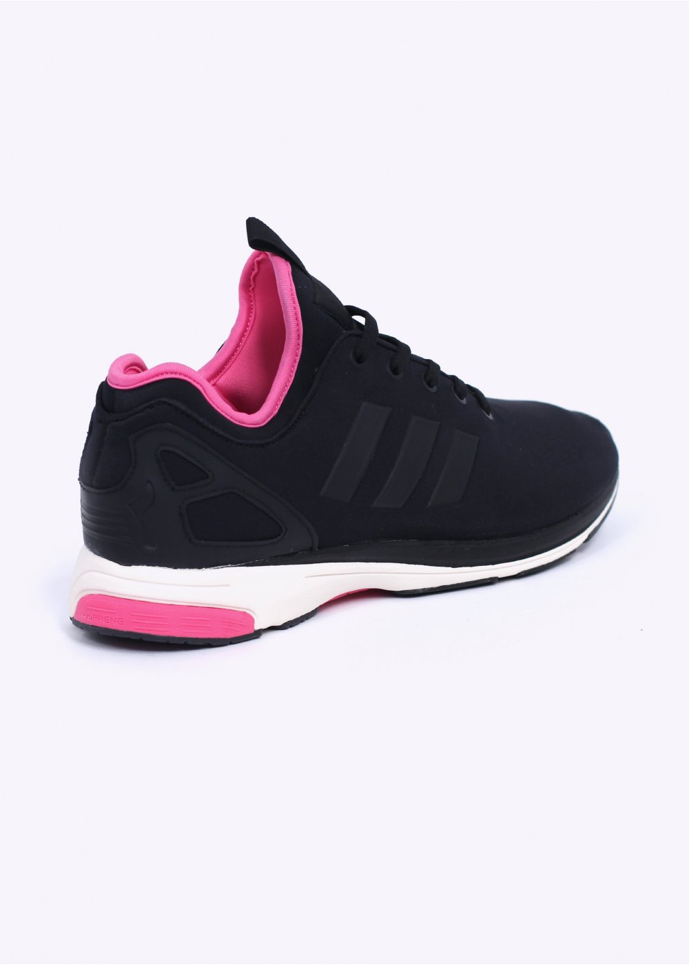 adidas black and pink trainers
