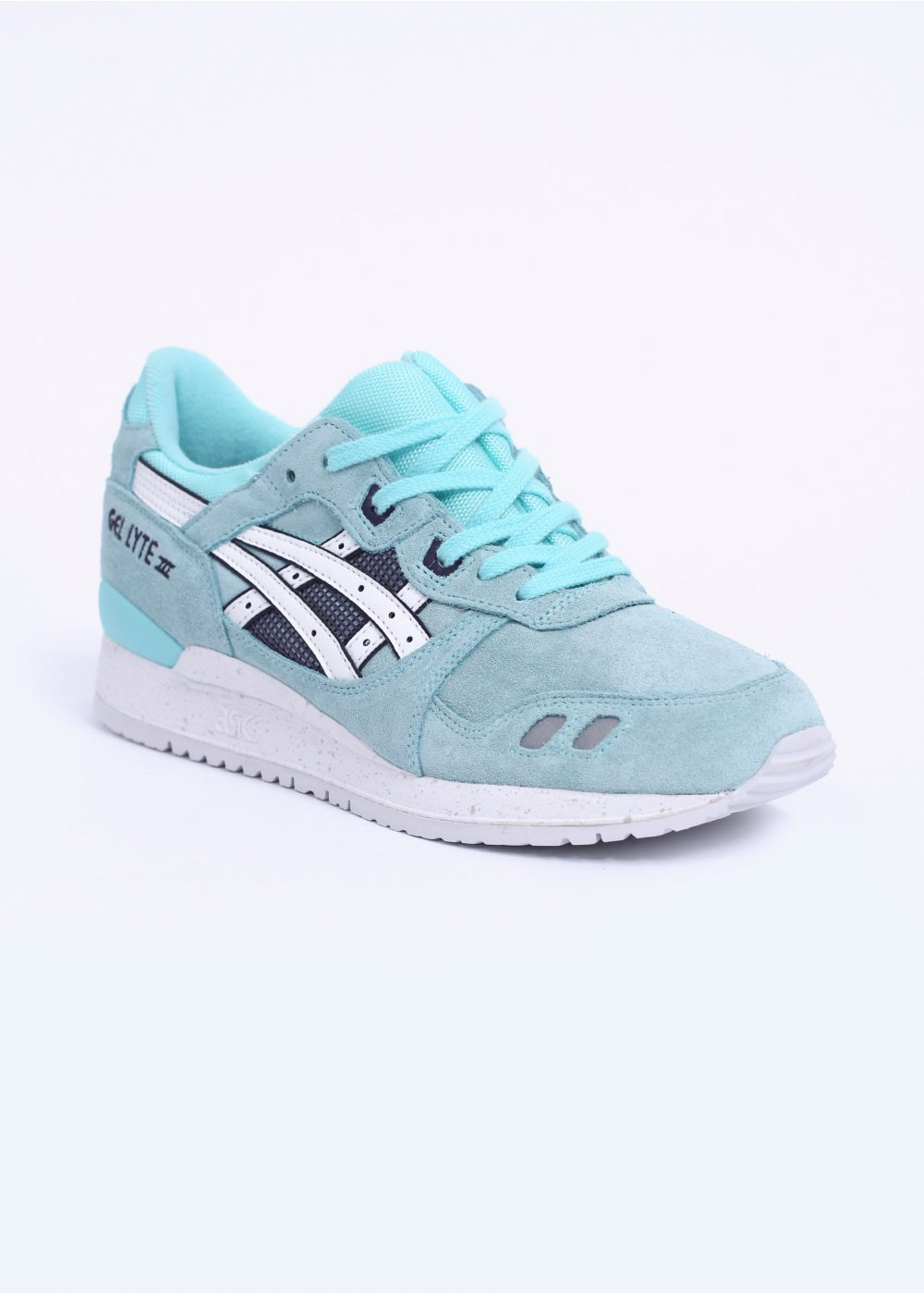asics gel lyte iii trainers blue white. Black Bedroom Furniture Sets. Home Design Ideas
